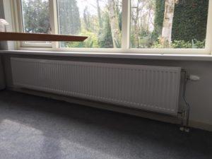 Nieuwe radiator in De Bilt